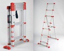 Телескопическая лестница-стремянка TELESTEPS Combi Line Red 3,0м